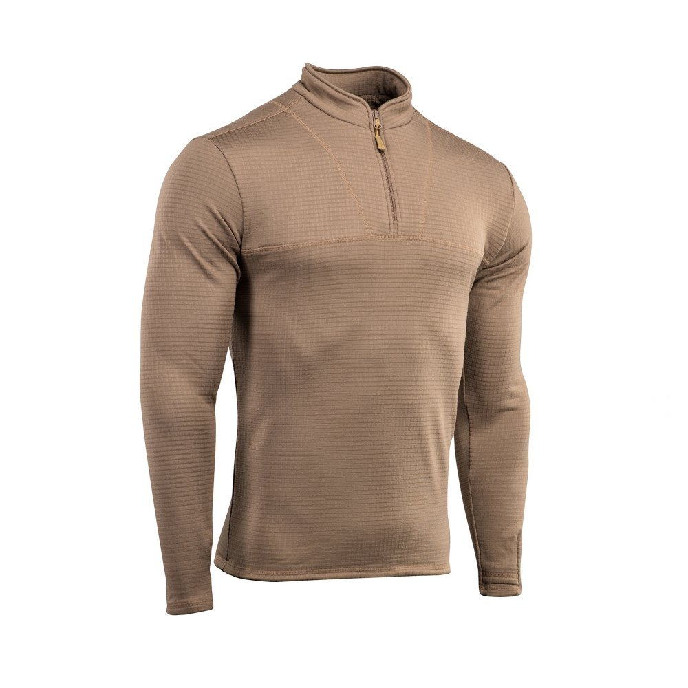 Delta Level 2 Mens Top Thermal Underwear for Men Fleece Lined Compression Shirt (Coyote Brown, XL) by M-Tac