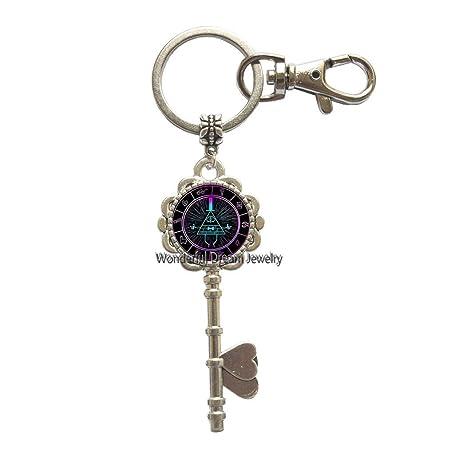 Amazon.com: Llavero de cristal con diseño de gema del tiempo ...