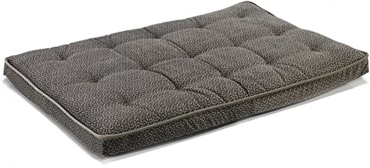 Bowsers Luxury Crate Mattress Dog Bed, Medium, Pewter Bones