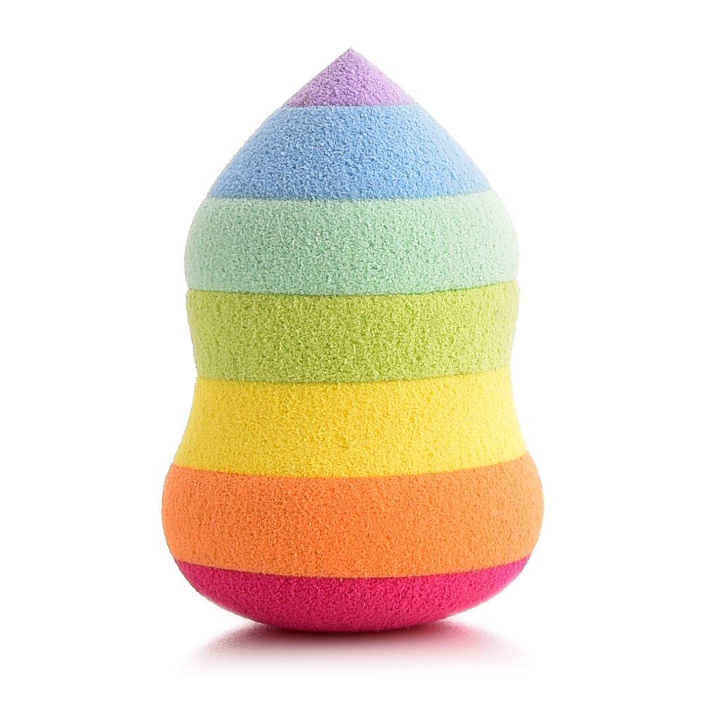 Make Up Sponges,GUJHUI Rainbow Beauty Makeup Powder Puff - Cosmetics Foundation Blender Powder Puff Flawless for Concealer, Powder, Cream (Water drop puff) Woopower