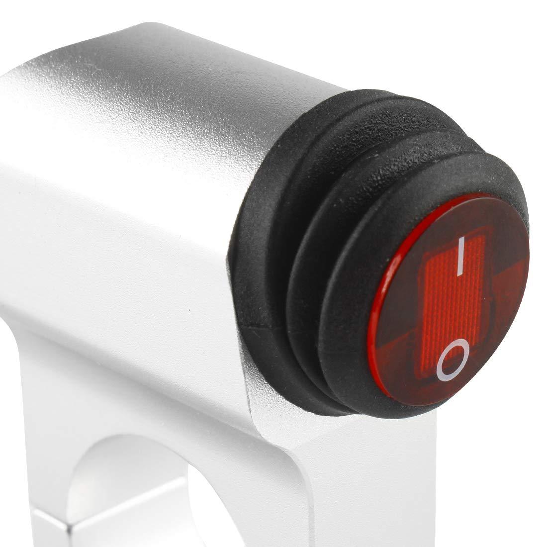 Larcele 12V Interruptor de manillar Interruptor de los Faros con Luz Indicadora,Di/ámetro de Montaje 25mm SBKG-01 25mm, Negro,Estilo 3857