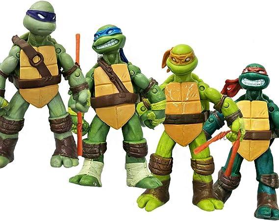 Amazon.com: Juego de 4 figuras de acción TMNT de la ...