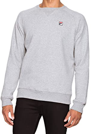 a1cc41dcb3 Fila Vintage Men's Filippo Sweatshirt, Grey at Amazon Men's Clothing store: