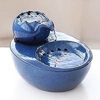 Tragbarer Wassertank-Wasserspender mit automatischem Umlauf für Katzen- und Hundewasserspender, blau 20,6 * 16,7 * 13,8 cm
