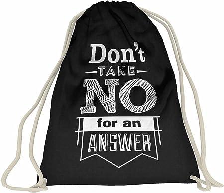 Compra Mochila de cuerdas, bolsa deportiva, estilo hípster, de algodón, varios diseños y frases, personalizable, color negro-- en Amazon.es