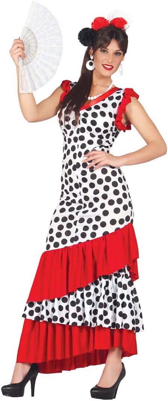 Amakando Vestido Flamenco español Disfraz Flamenca Carmen L 42/44 ...