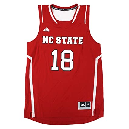 b836e25d469e Image Unavailable. Image not available for. Color  adidas NC State Wolfpack  NCAA  18 Official Basketball Team Red Jersey Men s