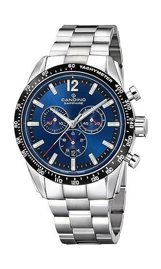 Candino Reloj Cronógrafo para Hombre de Cuarzo con Correa en Acero Inoxidable C4682/2: Amazon.es: Relojes