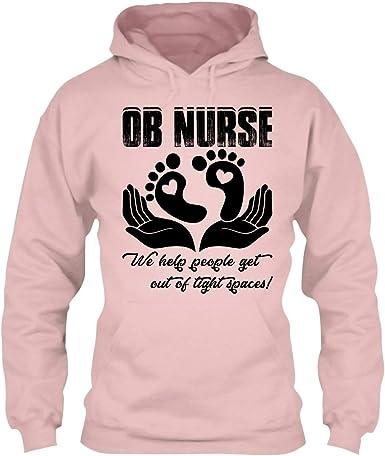 In Prink Proud OB Nurse Tee Shirt Long Sleeve Shirt