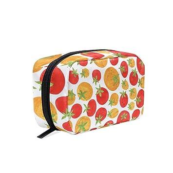 682d2b240272 Amazon.com : Toiletry Bag Tomato Funny Womens Beauty Makeup Case ...