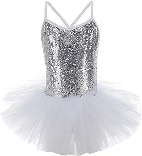 URMAGIC Ragazza Leotard Vestito Tutu Balletto Dancewear Cinghie Senza Maniche Sequined Body Ginnastica Abbigliamento