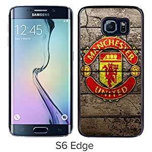 For Samsung Galaxy S6 Edge,Manchester United 7 Black Case Cover For Samsung Galaxy S6 Edge