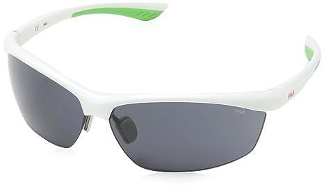 Fila Herren Sonnenbrille SF9029, Grau (Bianco), Einheitsgröße