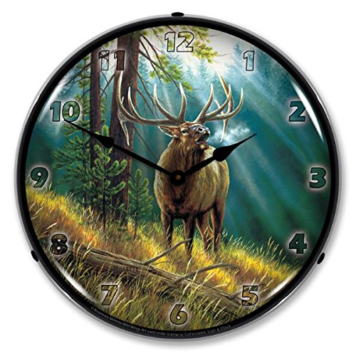 Calling All Challangers Elk By Rosemary Milette Lighted Wall ()