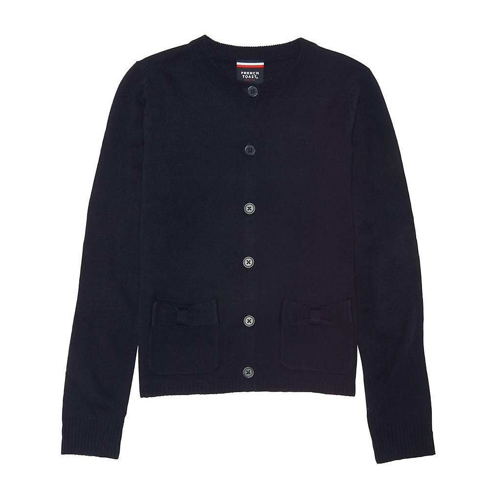 French Toast Girls Long Sleeve Bow Pocket Cardigan SC9232