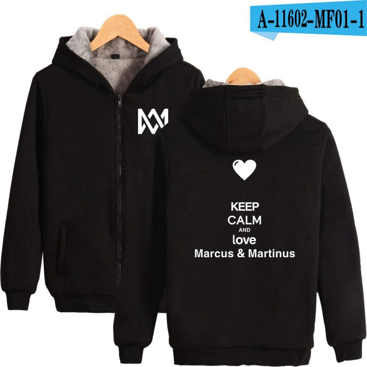 Amazon.com: WEEKEND SHOP Marcus and Martinus Weatshirt Women Coat Women Hoodies Zipper Jacket Warm Coat: Clothing