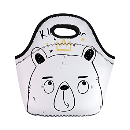 d3abbb13a4af Amazon.com: Semtomn Neoprene Lunch Tote Bag Blue Baby King Bear ...