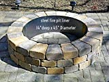 "Fire Pit Liner- Round Campfire Ring- 45""Dia. x 14"" Deep"