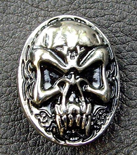 Lederbeutel Dukatenbeutel Geldkatze Farbe beige-schwarz Nordic Skull
