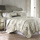 Histoire Grey King Quilt Set Grey,Ivory