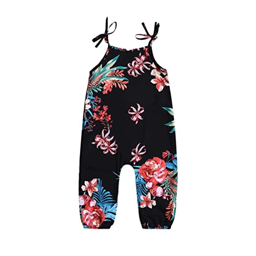 73b73f01030 abcnature Charming Romper Jumpsuit Playsuit Outfits Infant Baby Girl Floral  Print Sleeveless Strap Romper Jumpsuit Playsuit