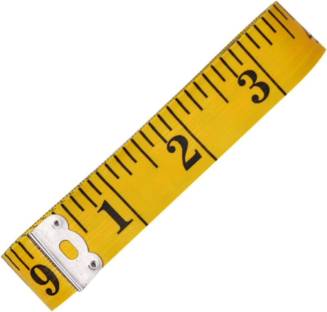 Shengerm Yellow Large Leather Tape Measure Metric inch Soft Tape Measure Sewing Tape 300cm