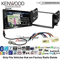 Volunteer Audio Kenwood DNX574S Double Din Radio Install Kit with GPS Navigation Apple CarPlay Android Auto Fits 2012-2013 Hyundai Accent (Radio Delete Models)