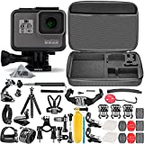 GoPro HERO5 Black (Certified Refurbished) + Hard Case + Chest Strap Mount + Head Strap Mount + Flexible Tripod + Extendable Monopod + Hero 5 Best Value Bundle