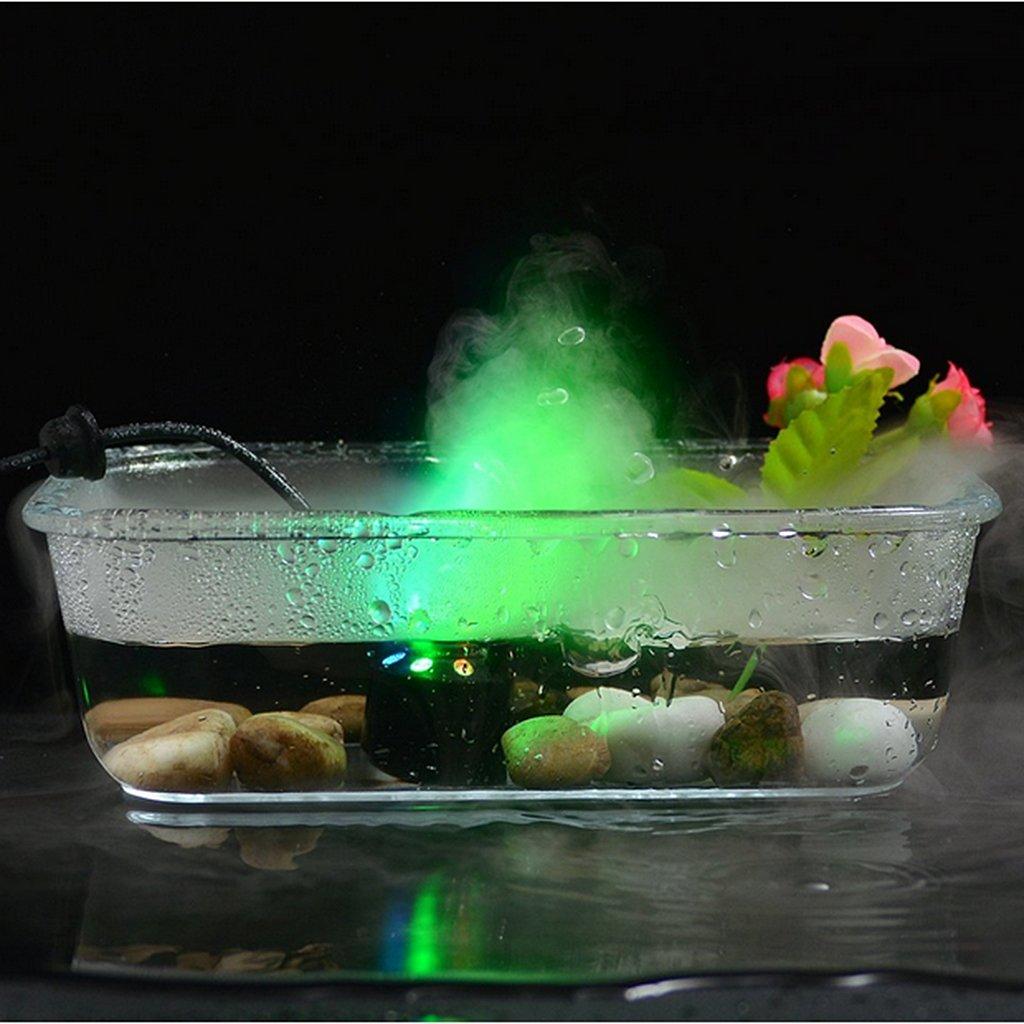 MonkeyJack 6-LED Mist Maker Fog Machine Atomizer Fogger Water Fountain Pond US Plug