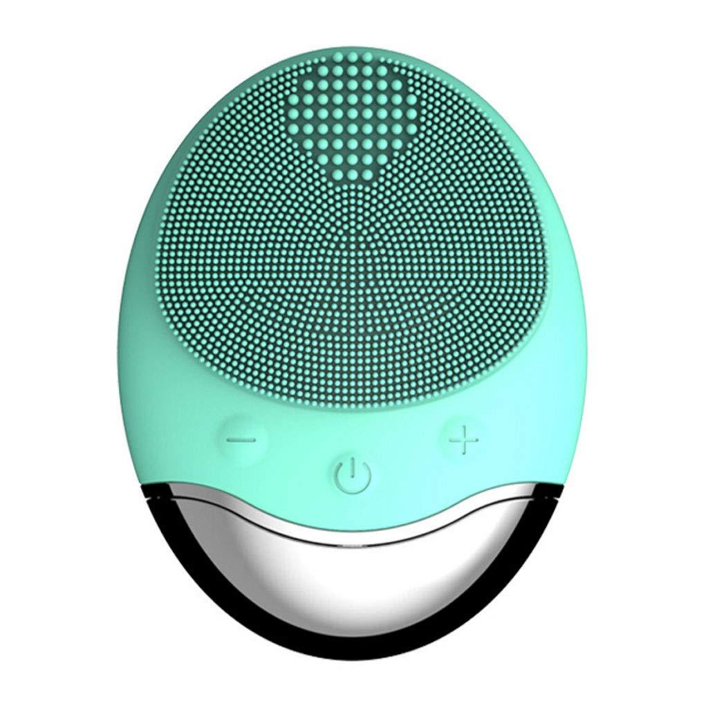 Meen Cepillo Facial, Limpiador Facial Vibrante portátil Carga inalámbrica para Limpieza Profunda Exfoliante Suave (Color : Mint Green)