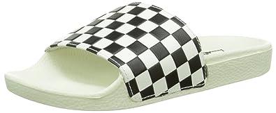 5539c96cce3d Vans Women s Slide-On (Checkerboard) White Black 5 ...