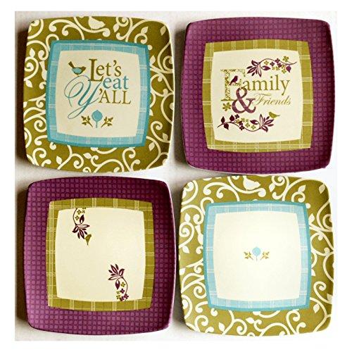 Paula Deen Melamine Snack Plates - Set of 12