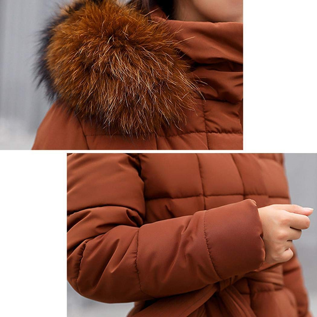 Creine Cappotto Imbottito Donna con Cappuccio Cappotto Lungo Invernale Parka Donna Inverno