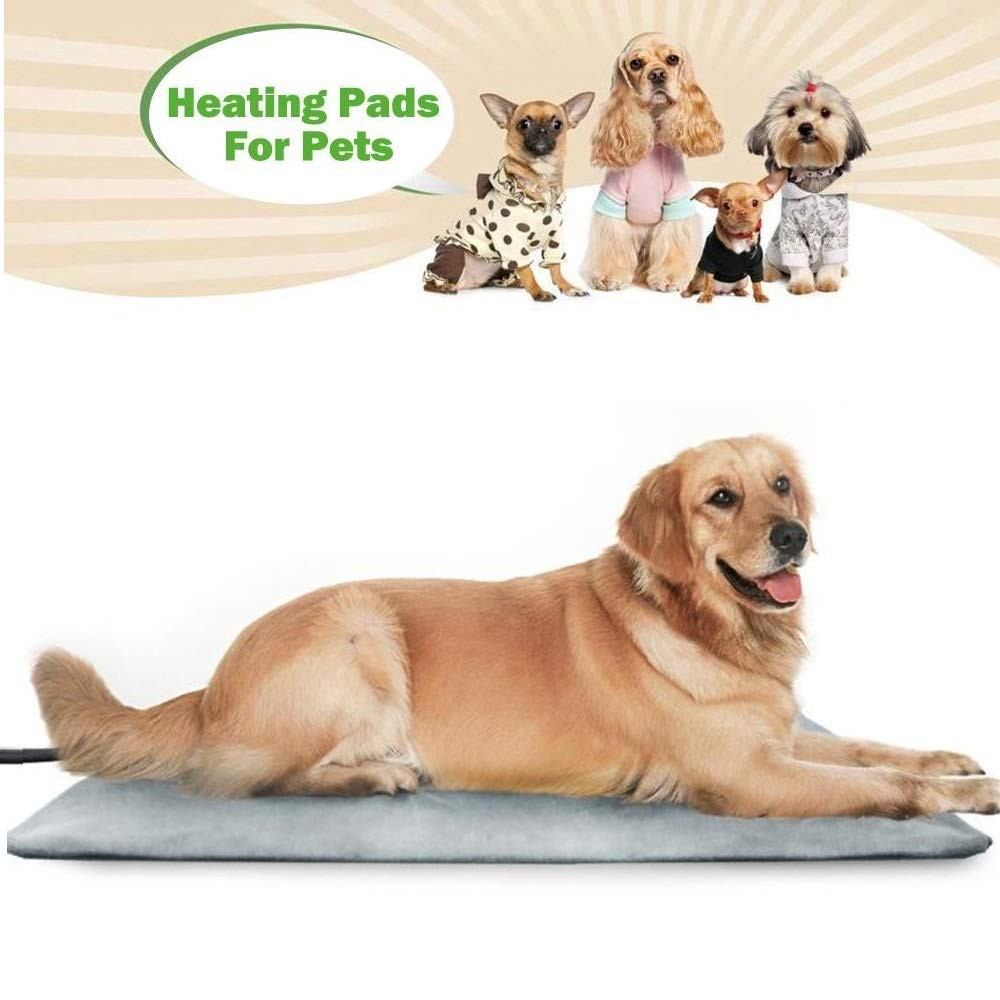 Pet Heating Pad Cat Dog Mat Waterproof Bed Adjustable Warmer Electric Mat Chew Resistant Steel Cord 70  45cm