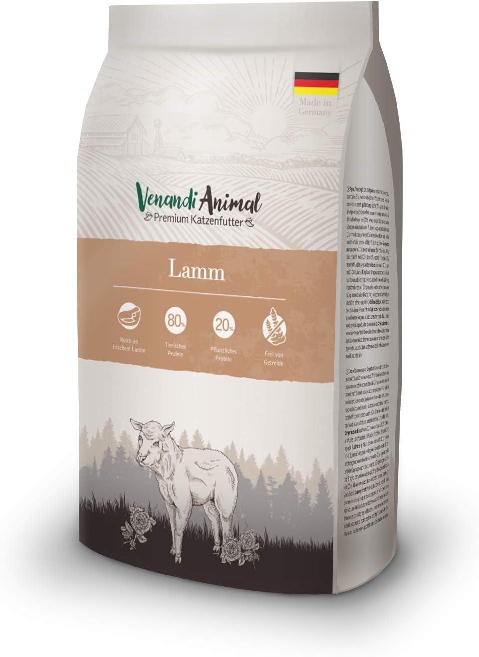 Venandi Animal - pienso seco para Gatos - Cordero como pienso seco - Completamente Libre de Cereales - 1,5 kg