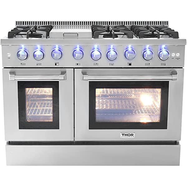 Amazon.com: Thor Kitchen 48 6 Burner Gas Range with Double ...