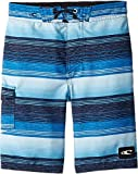 O'Neill Little Boys' Santa Cruz Print Boardshort, Stripe Blue, XL7X