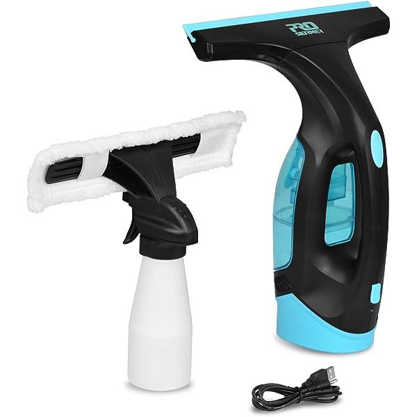 Prostormer Limpiador de Ventanas, Aspiradora de ventana, traje de 2 piezas, Escobilla de vacío, Botella de spray, 3,6V Batería de litio recargable: Amazon.es: Bricolaje y herramientas