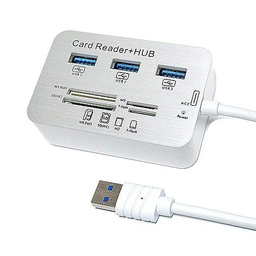 ORYKEY Lector de Tarjetas USB y 3 Puertos 3.0 USB Hub de ...