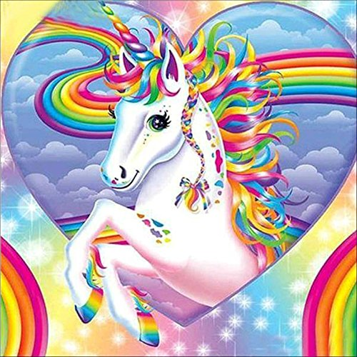 TWBB DIY 5D Diamond Painting Kit Diamond Sticker Stitch Painting Sets,Unicorn Pattern Diamond Painting,12