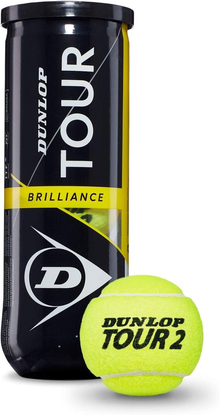 Dunlop Tour Brillance Pelotas Tenis, Adultos Unisex, Amarillo, Bote 3