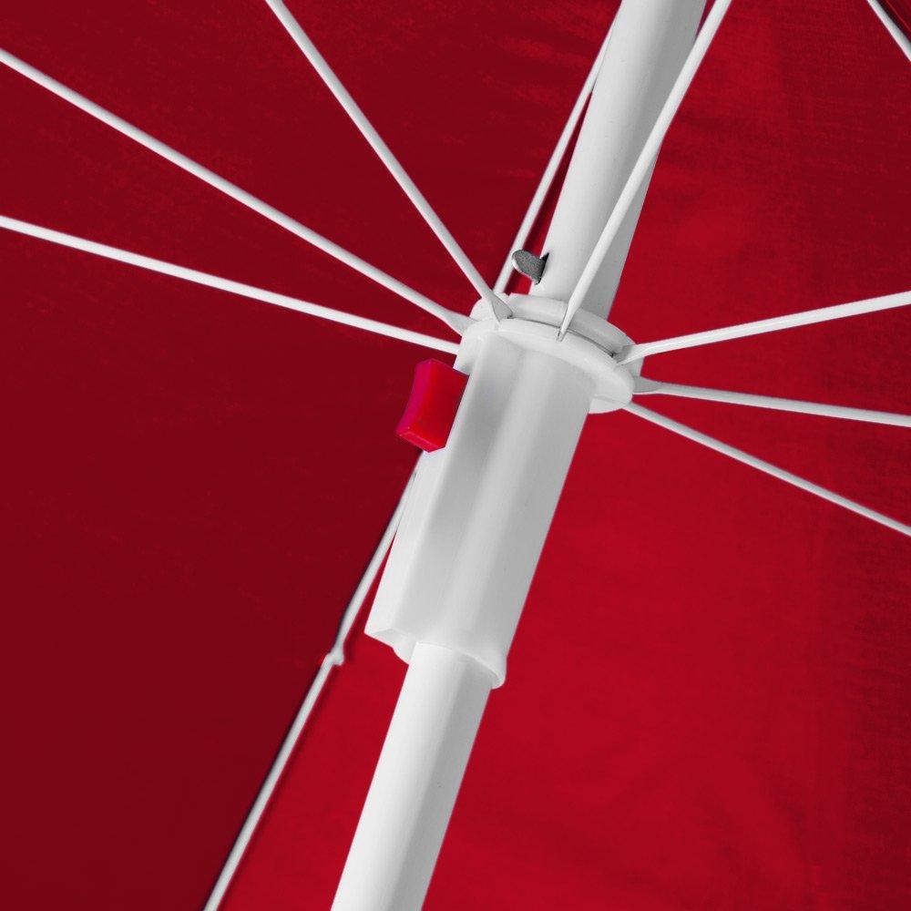 Kingsleeve Ombrellone da spiaggia regolabile in altezza funzione inclinazione ombrellone da giardino parasole 180cm beige