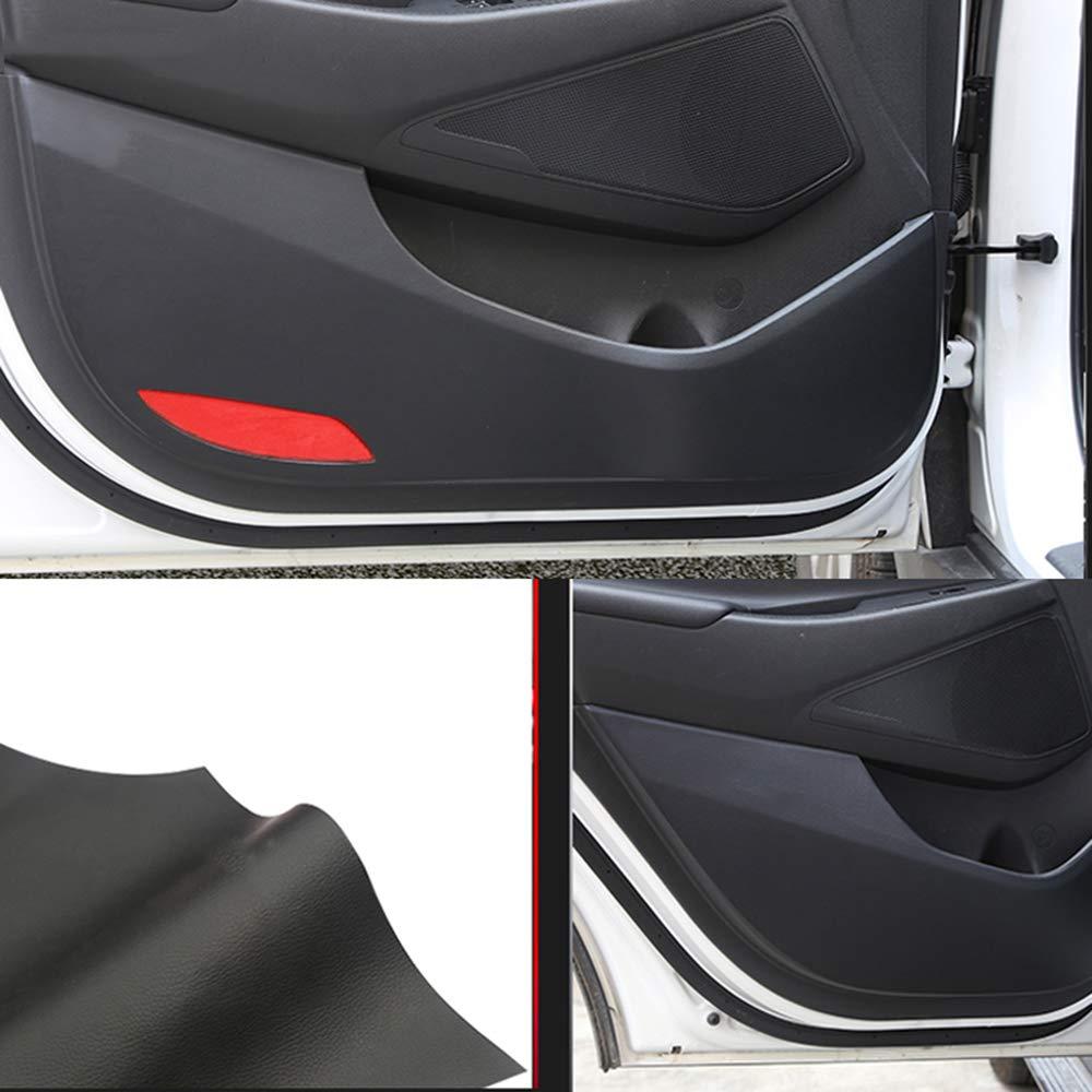 LUVCARPB 4 pcs Car Styling Door Leather Protector Pad Anti Kick Pad Anti-Dirty Pad Mat Cover Sticker,Fit for Hyundai Tucson 2015-2019