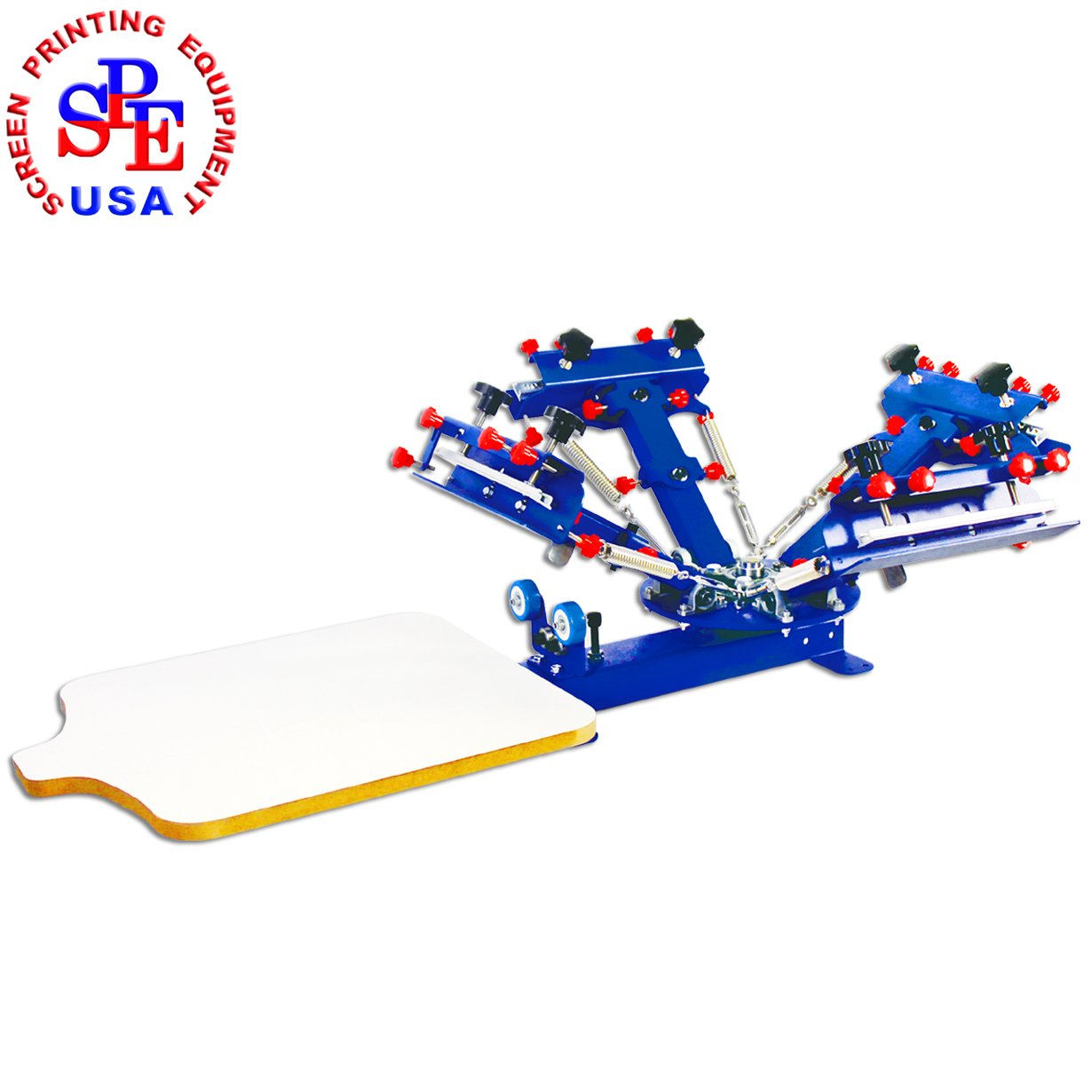 4 Color 1 Station Desktop Screen Printing Machine Micro-registration Screen Printer