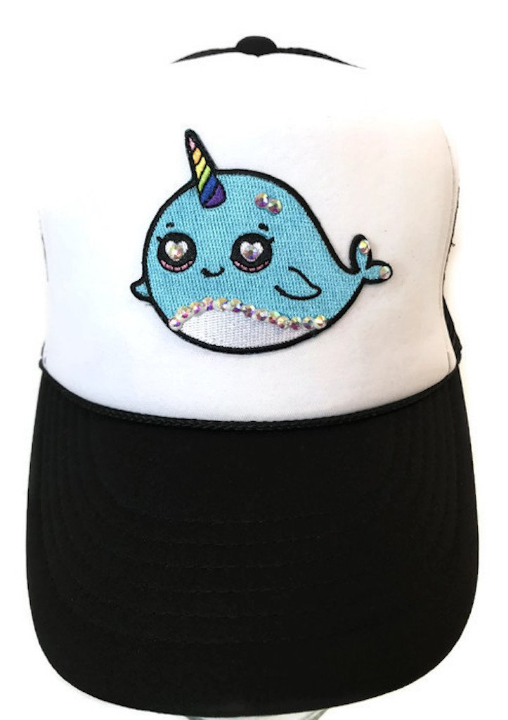 Lidsville Kids Hats Girls Snapback Narwhal Trucker for Sun Protection and Trendy Summer Beach wear