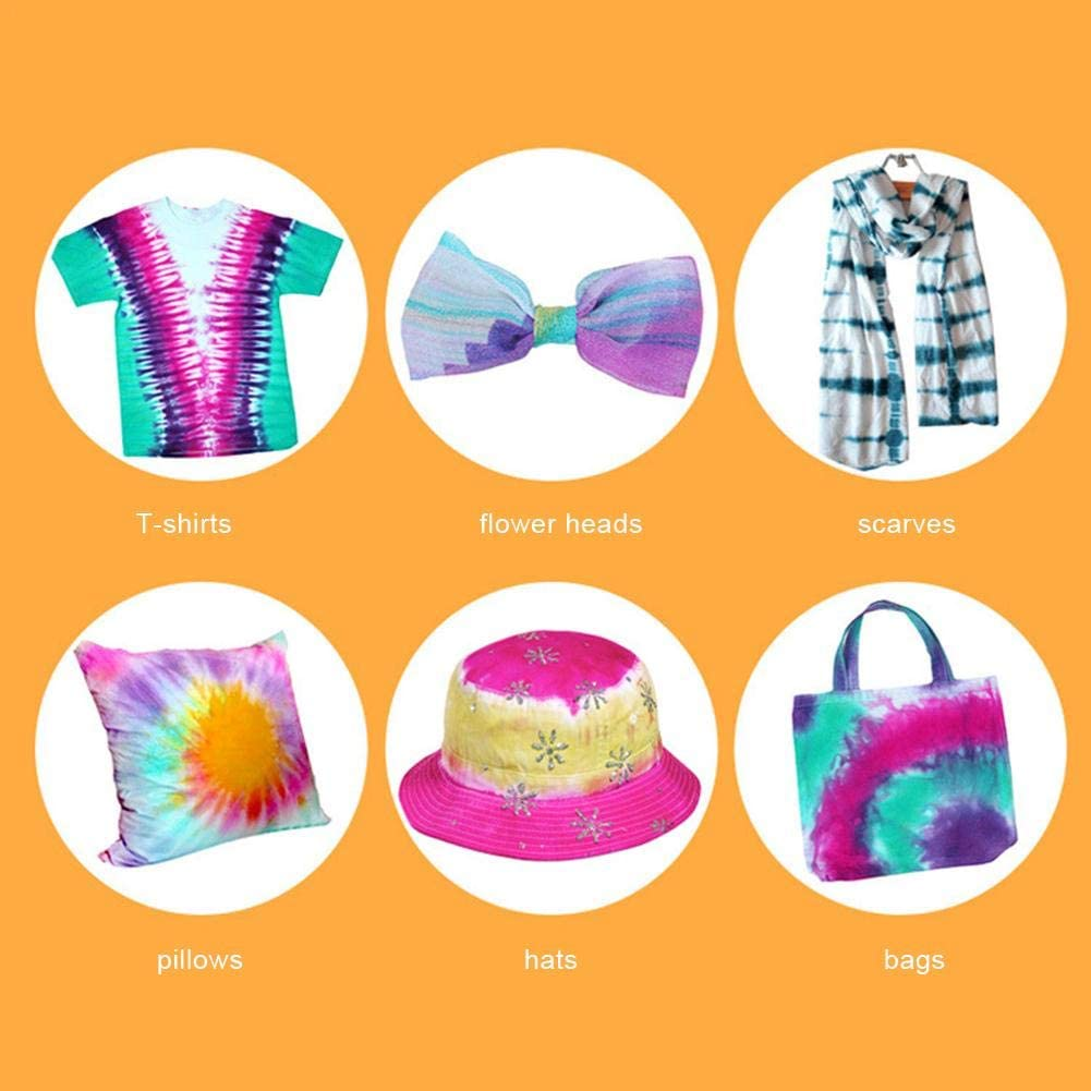Tie Dye Kits Easy Tie Dye Party Kit for Kids,Adults and Groups,5 Colours Tie Dye Kits for Craft Arts Fabric Textile Party DIY Handmade Project