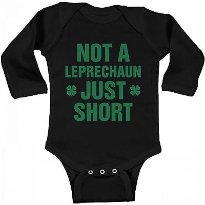 Customized Girl Funny Baby Not Leprechaun: Infant Long Sleeve Bodysuit