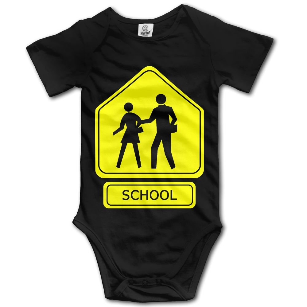 Jaylon Baby Climbing Clothes Romper School Crossing Infant Playsuit Bodysuit Creeper Onesies Black