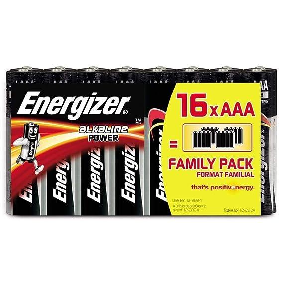 Piles AAA Energizer Alkaline Power, Pack de 16