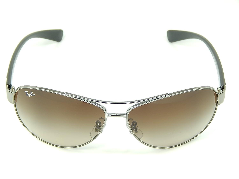 c53867e8036 Amazon.com  New Ray Ban RB3386 004 13 Gunmetal Brown Gradient 63mm  Sunglasses  Shoes